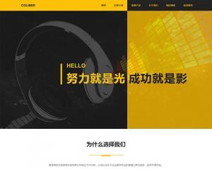 黄黑色超个性创意网站