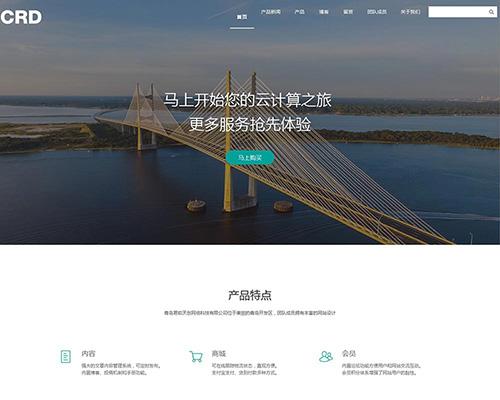绿色网络科技公司响应式网站